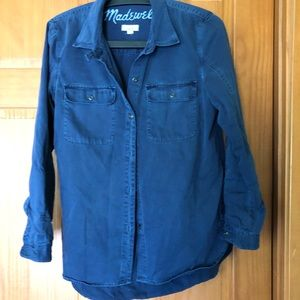 Madewell Chambray Longsleeve Top Size m